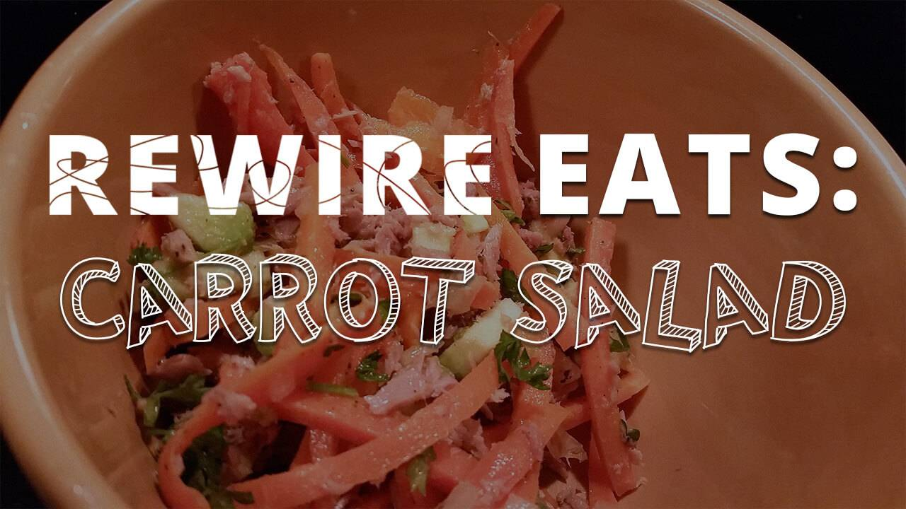 Rewire Eats pbs Carrot Salad
