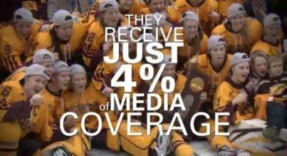 "media coverage of womens sports The women's media center's 2015 report on ""the status of women in the us media"" showed that just 102 percent of sports coverage in 2014 was produced by women."