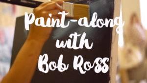 "Bob Ross Paint-along w/ Leslie Barlow ""Christmas Eve Snow"""