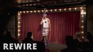 Comedian Ali Sultan at the Acme Comedy Club