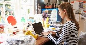 Woman On Laptop Running Business From Home Office Family Funding pbs rewire