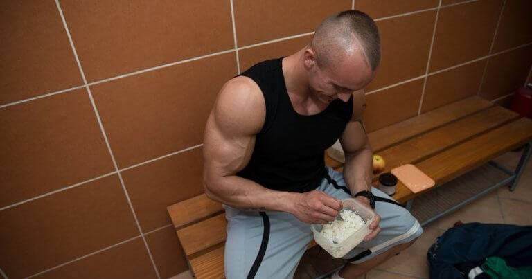 Bodybuilder Eating Healthy Out Of Tupperware Zero-Waste Habits pbs rewire