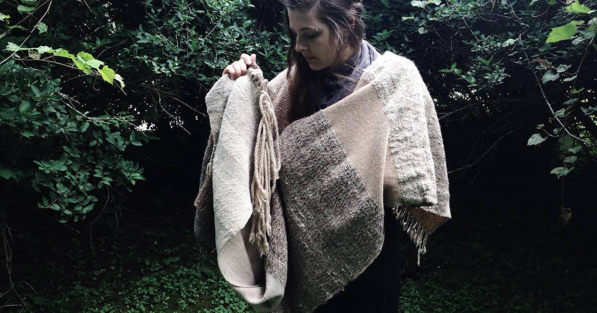 Woman showcasing a blanket Sustainable Wardrobe pbs rewire