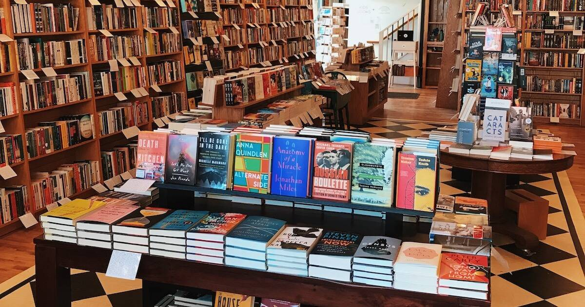 A book store table full of books Indie Book Stores pbs rewire