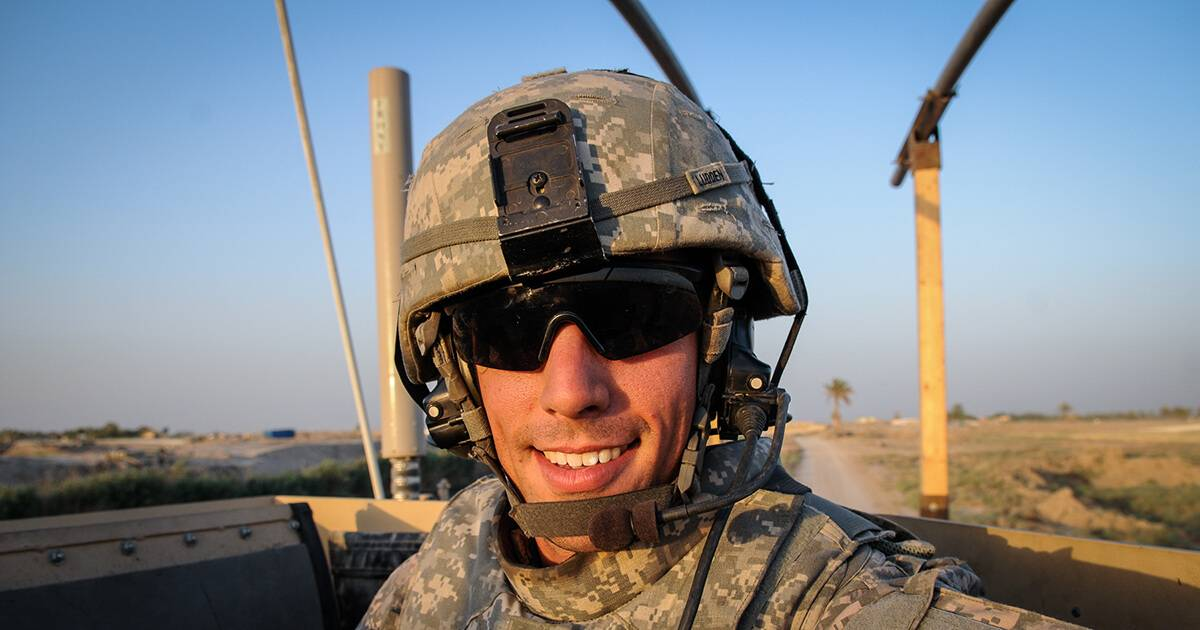 A young American solider in Iraq, 2009. Rewire PBS Living Going to War