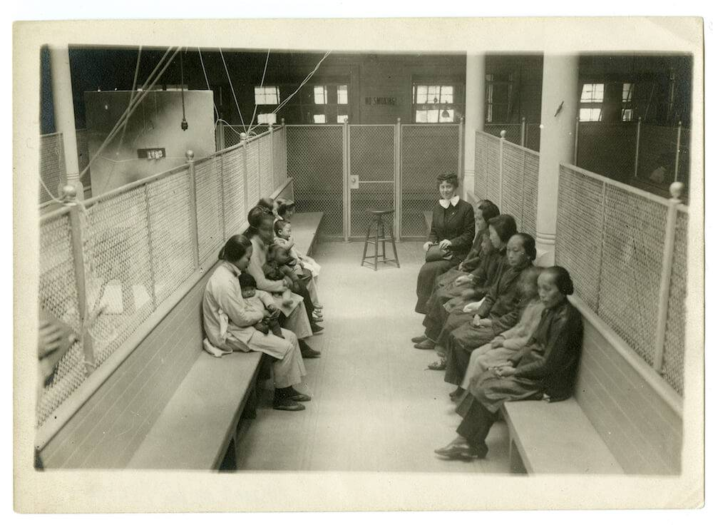 Female Chinese detainees at Angel Island (archive image). Rewire PBS Our Future Chinese Exclusion