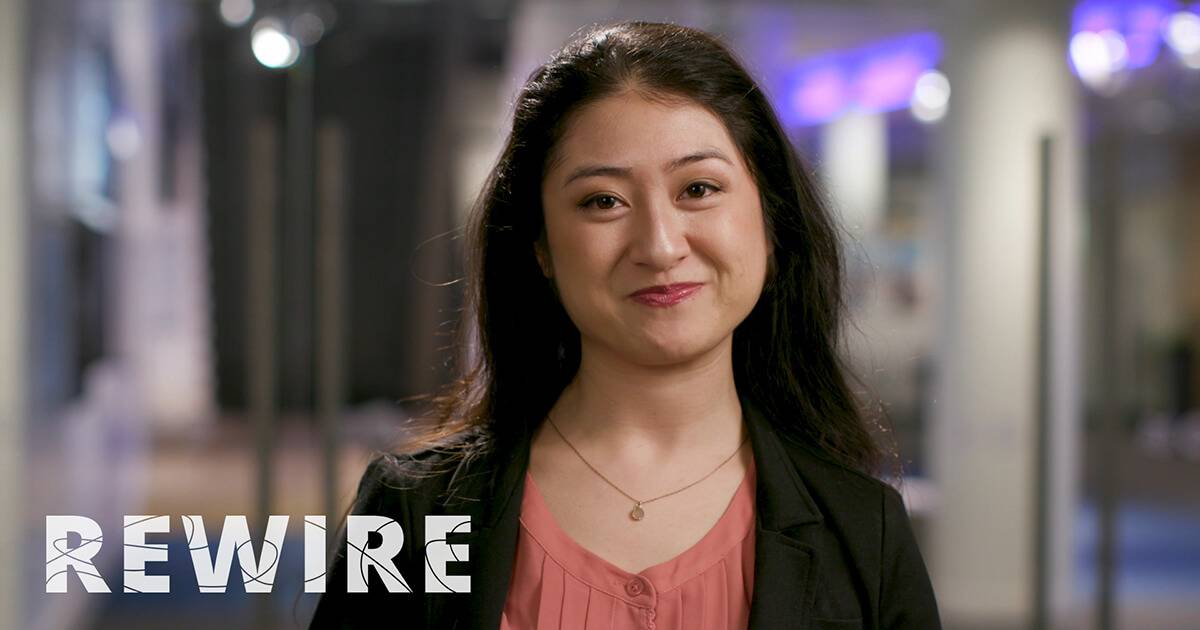 young Asian American woman in a suit jacket. Rewire PBS Work Entrepreneur