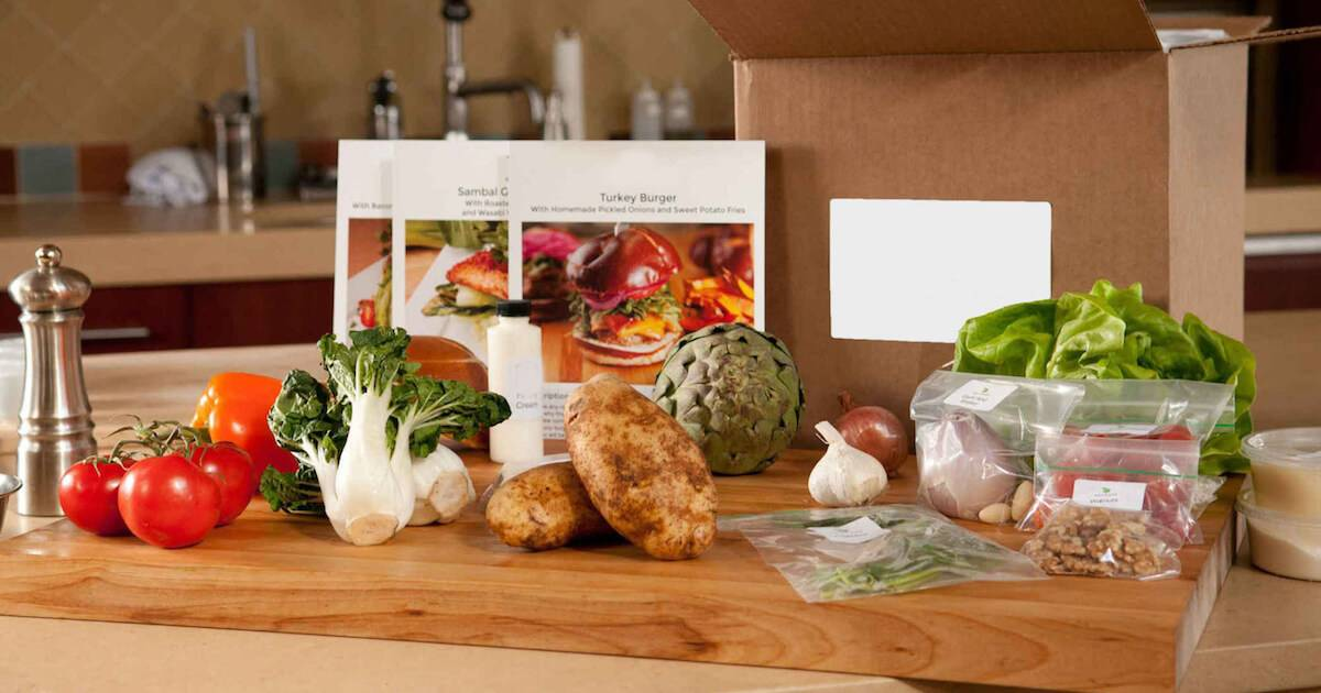 Unboxed delivery from a meal kit service. Meal Kits pbs rewire