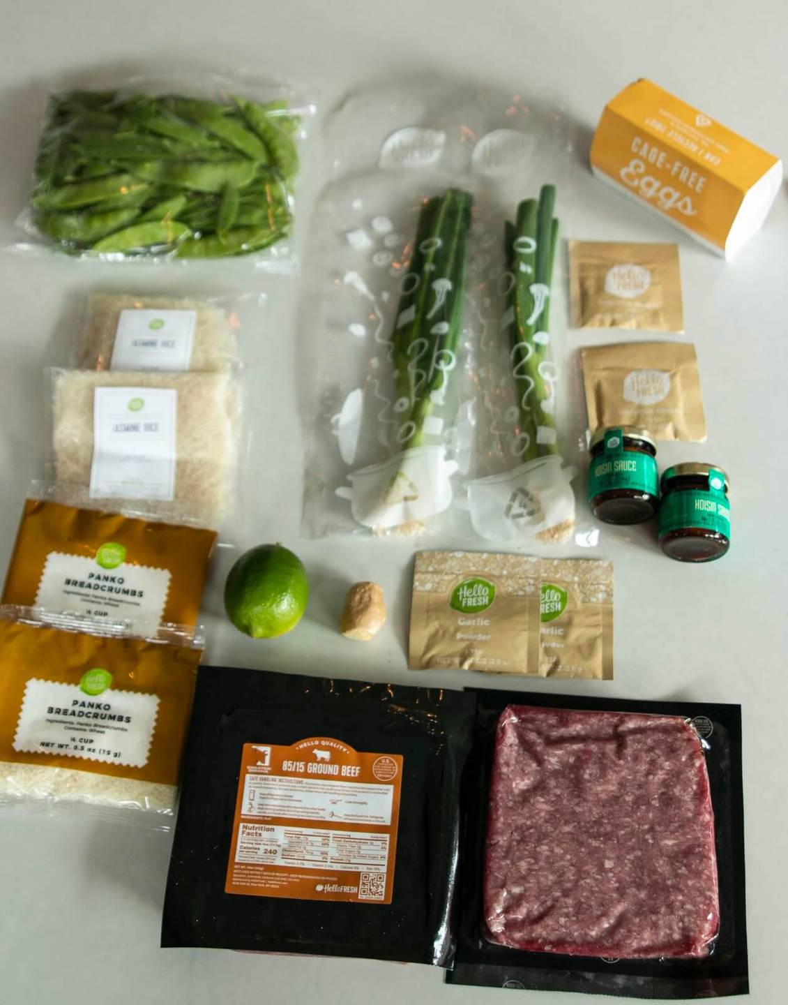 The prepackaged ingredients to make hoisin meatballs. Meal Kits pbs rewire