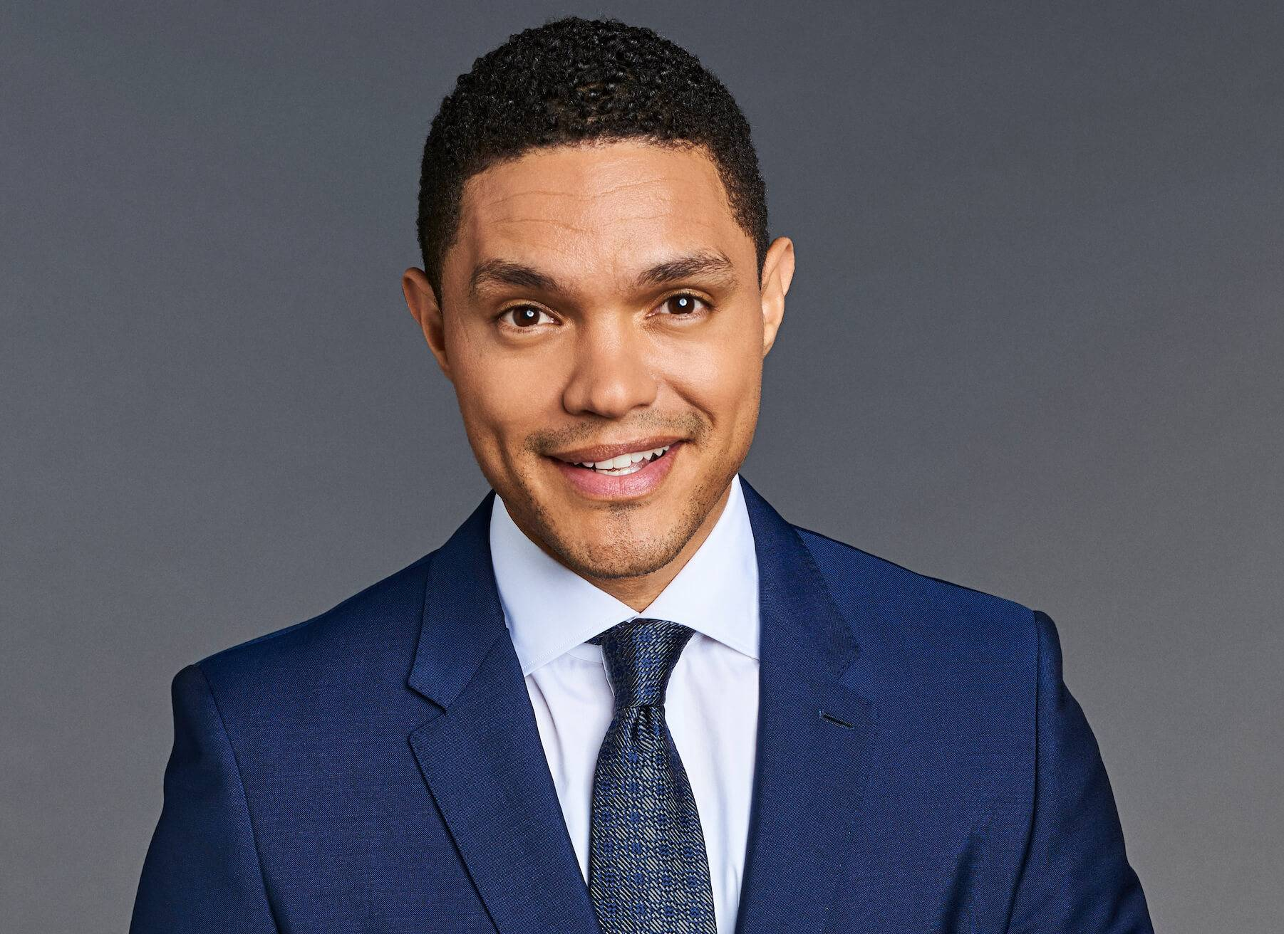 Portrait photo of Trevor Noah. Breaking Big pbs rewire