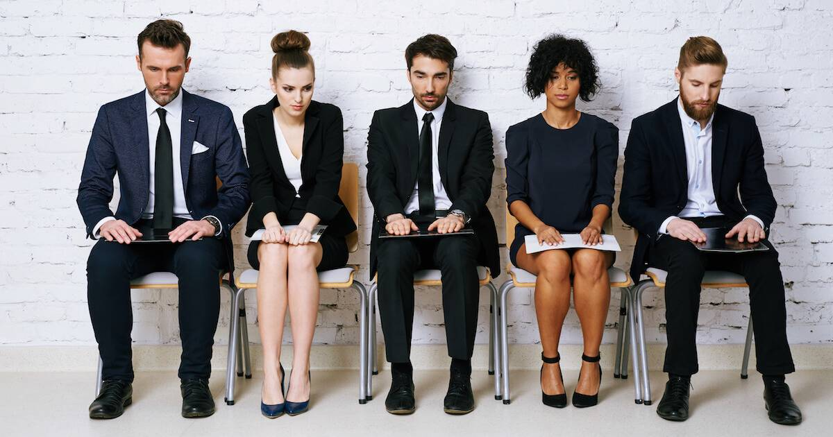 people waiting for job interview. Hiring Trends pbs rewire