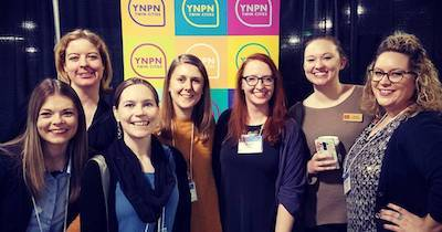 Group of woman at a YPNN event. Nonprofit Nerd pbs rewire