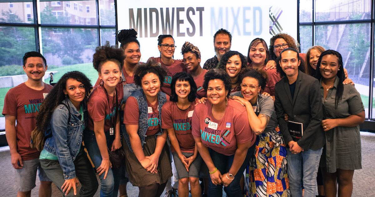 Group of attendees at Midwest Mixed is a Minneapolis, MN. Multiracial People pbs rewire