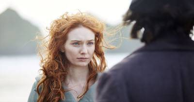 Demelza looking at Poldark. Poldark Creator pbs rewire