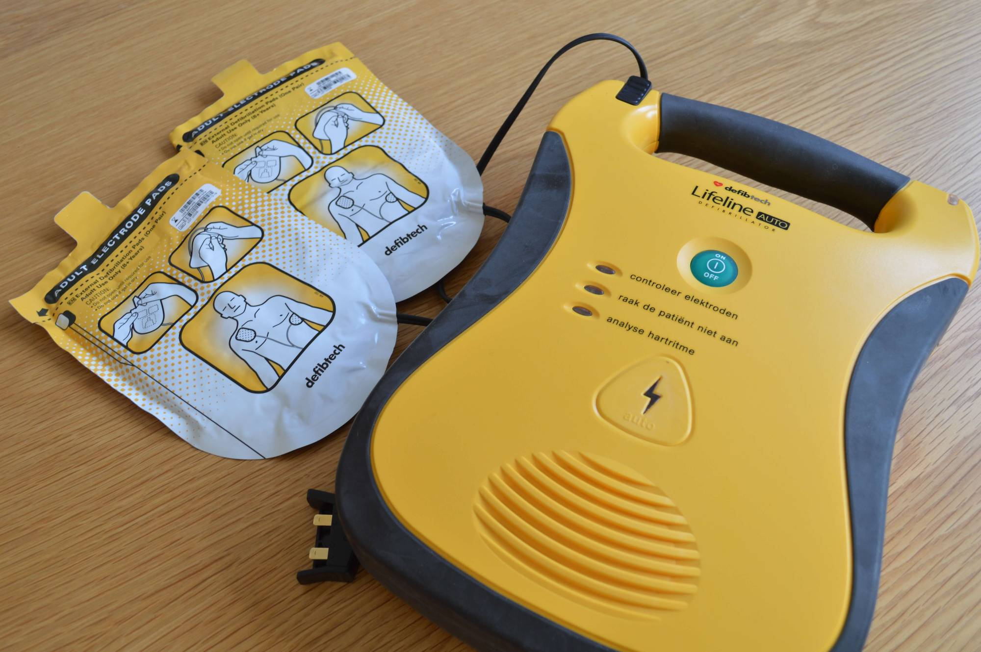 An automated external defibrillator. National Preparedness Month pbs rewire