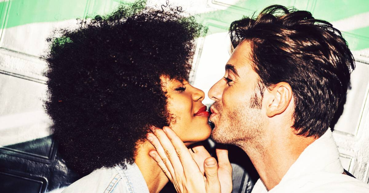 Interracial couple kissing. Racial Dating Preference pbs rewire