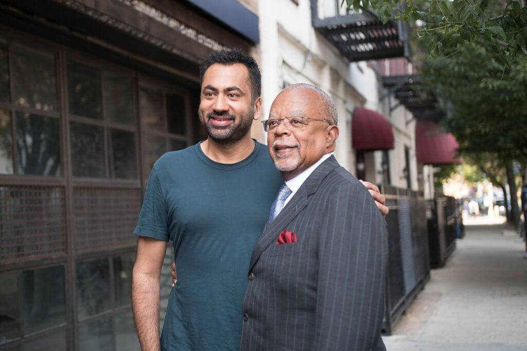 Finding Your Roots host Henry Louis Gates, Jr. with Kal Penn. PBS rewire