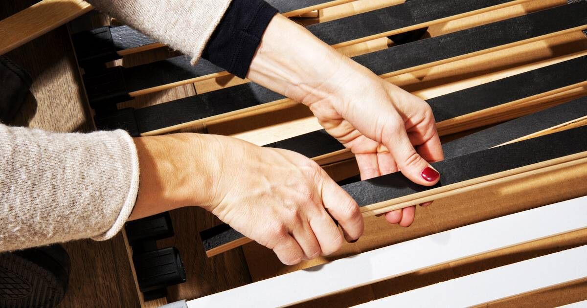 Woman putting together IKEA furniture. IKEA Habit pbs rewire