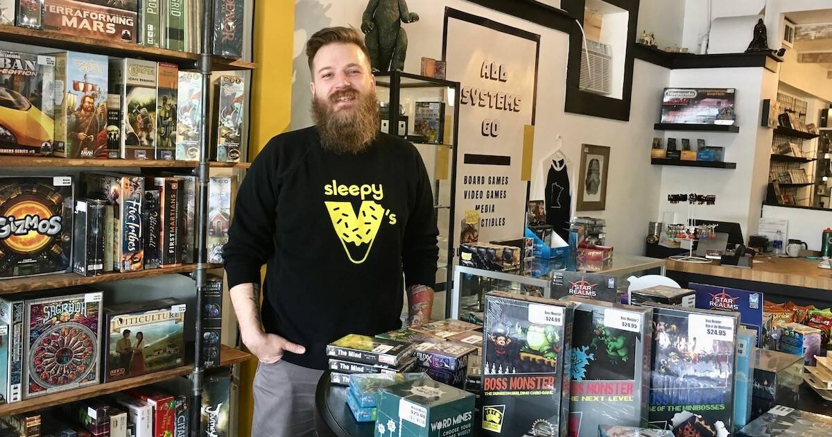 Photo of game store owner Anders Lundberg. Nerd Culture pbs rewire