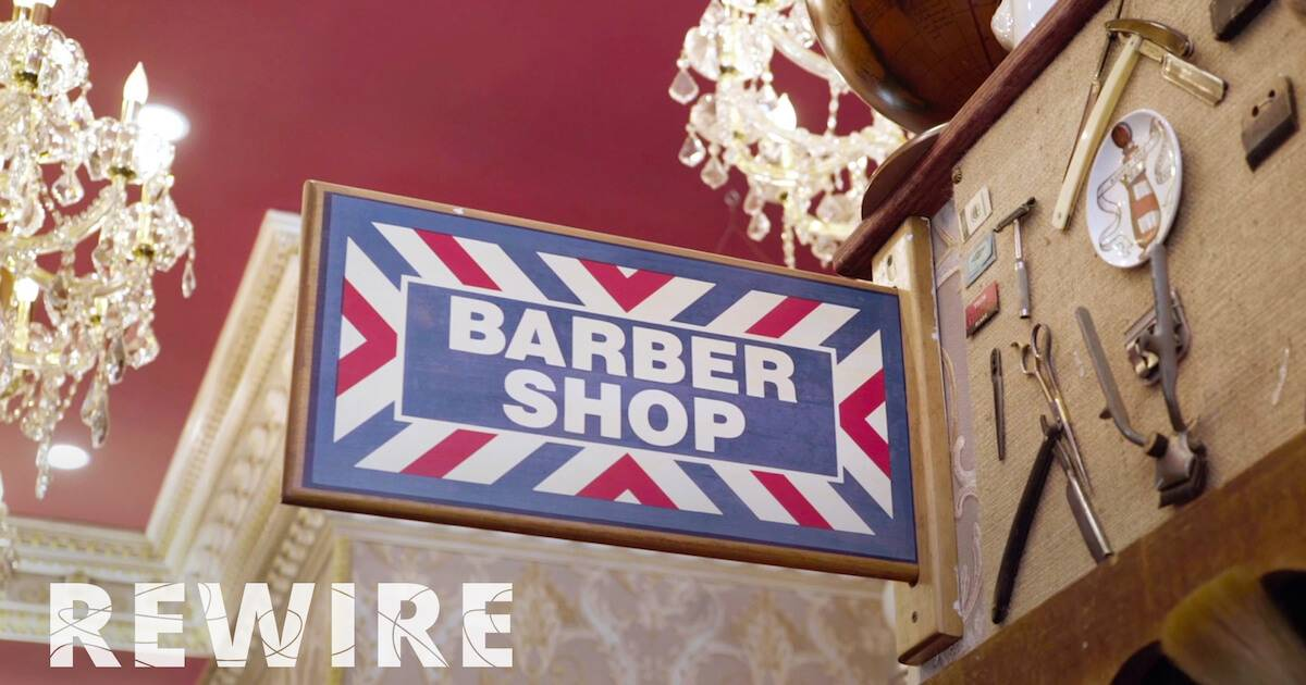 Photo of a barber shop sign. Barber Shop Museum pbs rewire