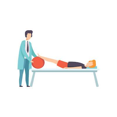 Illustration of woman receiving physical therapy. Health Care Costs pbs rewire