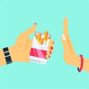 refuse smokes illustration. quit smoking.