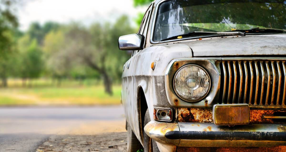 An old, rusty car pbs rewire living old car
