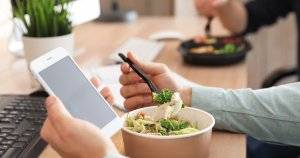 Glued to Your Phone on Your Lunch Break? Do This Instead.