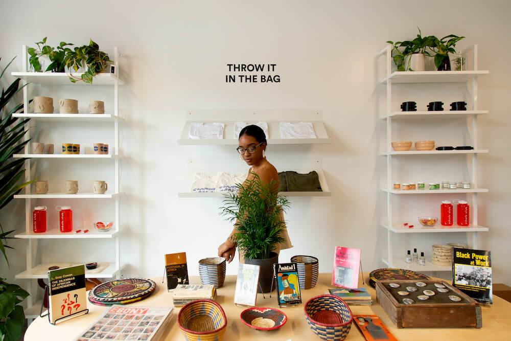 Photo of a stylish boutique inside a coworking space. Rewire PBS Work People of Color