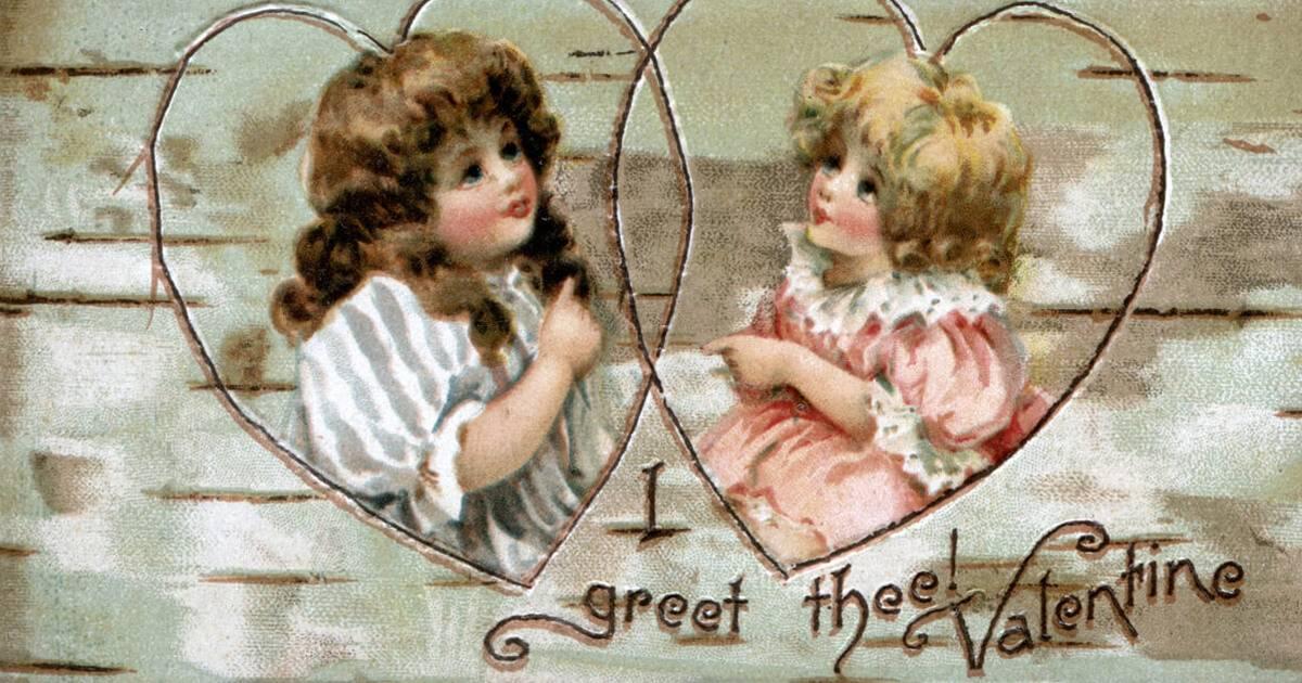 Two cherubs Rewire PBS love valentine