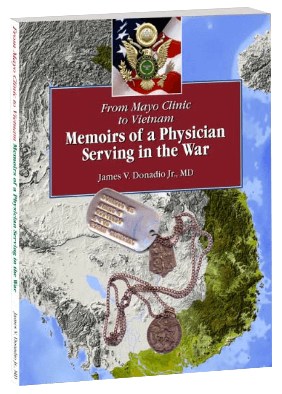 "Photo of the cover of the book ""From Mayo Clinic to Vietnam: Memoirs of a Physician Serving in the War"""