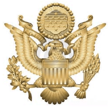 Gold Army Medical Department Regiment Symbol