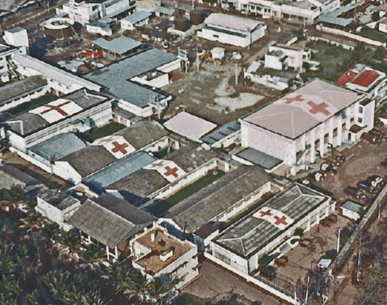 Arial Shot of 3rd Field Hospital