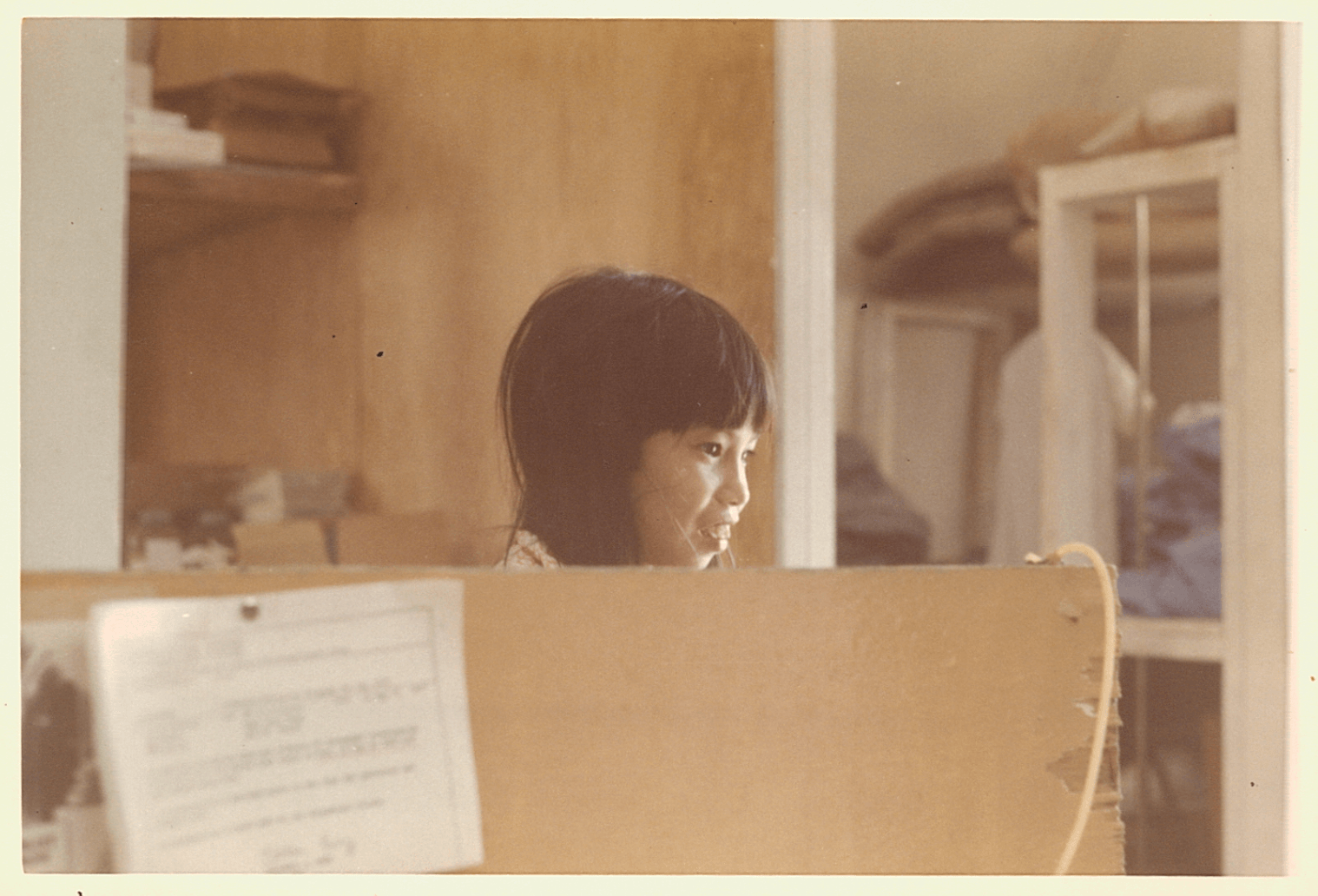 A young Asian patient in the ward.