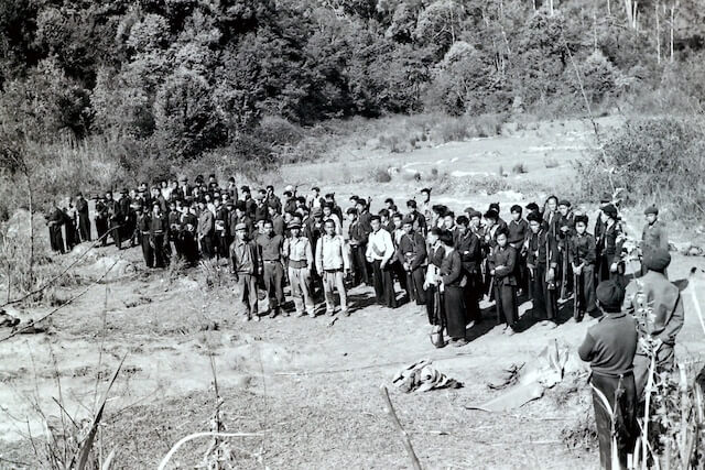 Group of Hmong soldiers.