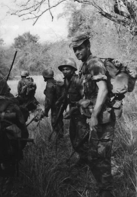 American sergeant with troops.