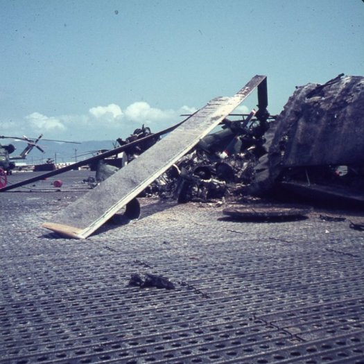 Damage from a bombing.