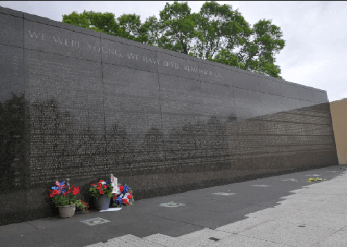 The Vietnam Wall.
