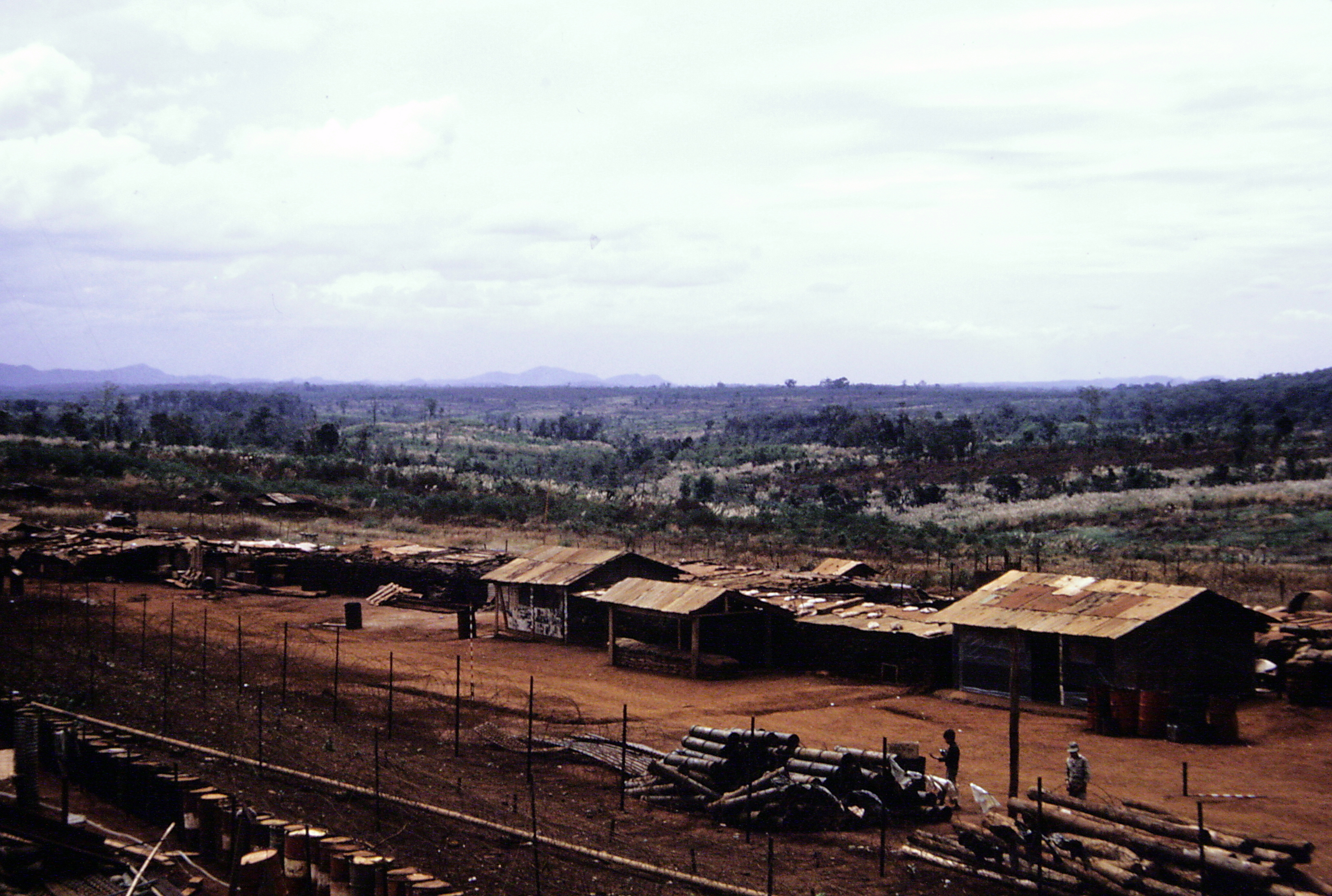 View of military camp.