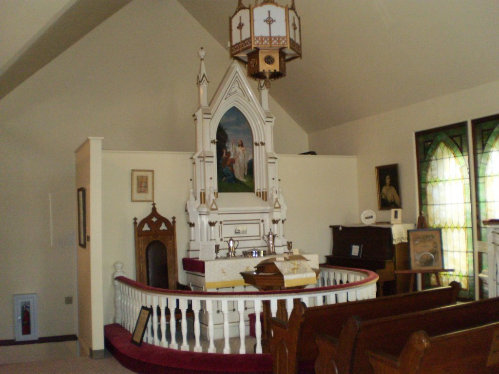 Interior of a small church.