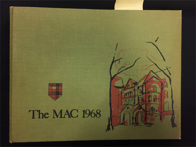 The Mac 1968 Yearbook.