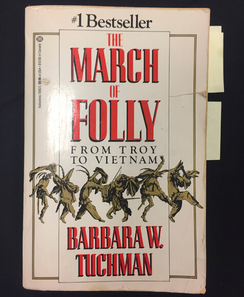 Book cover of The March of Folly by Barbara Tuchman.