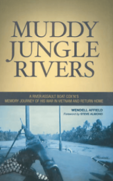 "Book cover for ""Muddy Jungle Rivers"" by Wendell Affield."