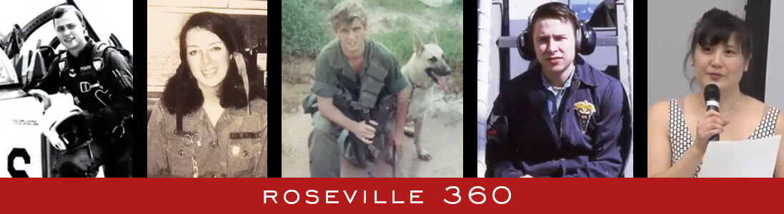 Graphic for Roseville 360 event with a collage of Vietnam veteran photos