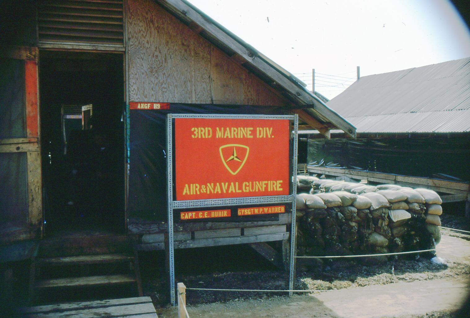 3rd Marine Division sign outside barracks