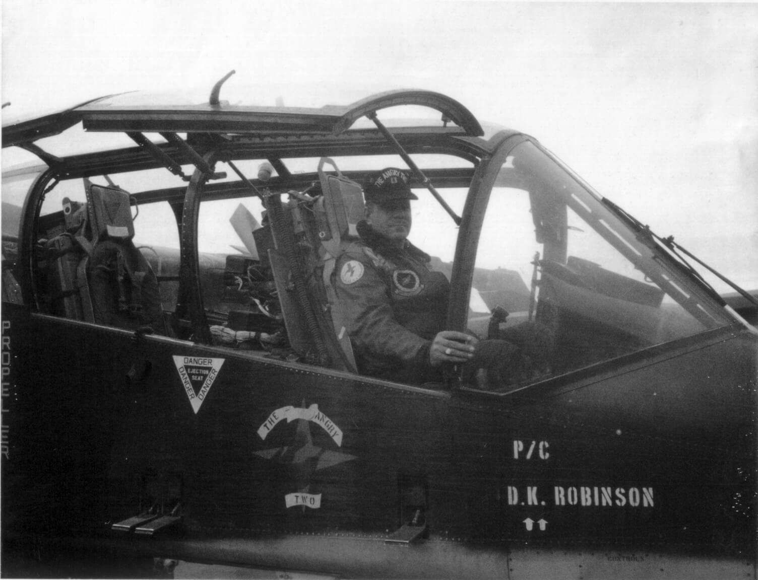 Pilot in aircraft