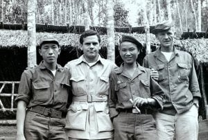 Hmong soldiers with CIA leaders